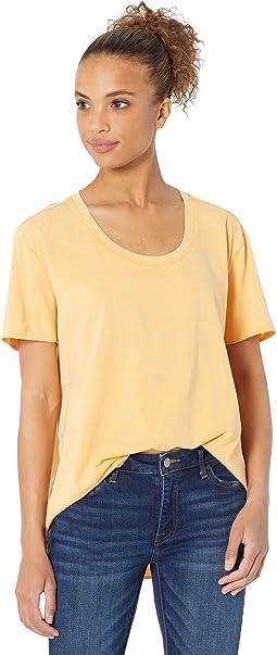 Vintage Supreme Jersey Short Sleeve U-Neck High-Low Tee