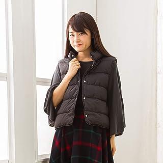 【Amazon.co.jp 限定】 東京 西川 ダウンベスト Lサイズ ダウン90% レディース 袖なしタイプ 家事やちょっとした外出に セブンデイズ ブラック NH8551