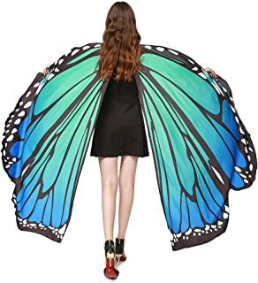 💋💋Women Multicolor Butterfly Wings Shawl Scarves Ladies Nymph Pixie Poncho Costume Clothes Accessory