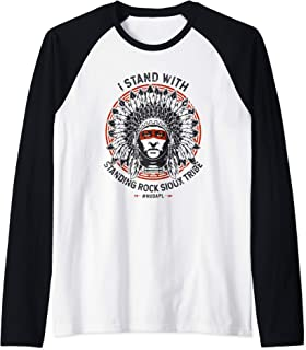 I Stand With Standing Rock Sioux NODAPL Native Pride Raglan Baseball Tee