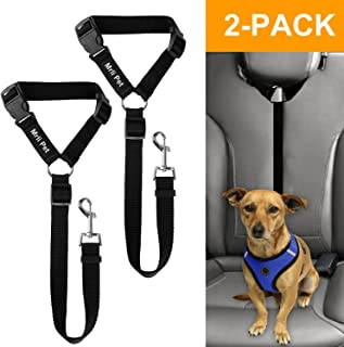 Mrli Pet Doggy Car Headrest Restraint - Animal Safety Seat Belt Strap - Adjustable Nylon Fabric Harness for Dog – Easy Vehicle Travel with Pet – Durable Zipline & Tether Backseat for Traveling