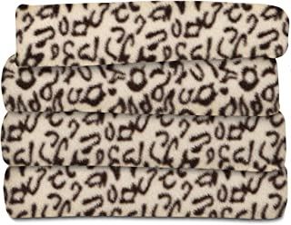 Sunbeam Heated Throw Blanket   Fleece, 3 Heat Settings, Cheetah - TSF8TP-R906-33A00