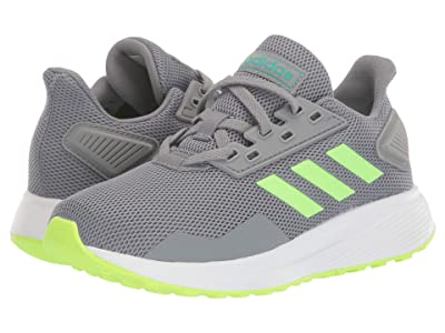 adidas Kids Duramo 9 (Little Kid/Big Kid) (Grey/Signal Green/Glory Green) Boy