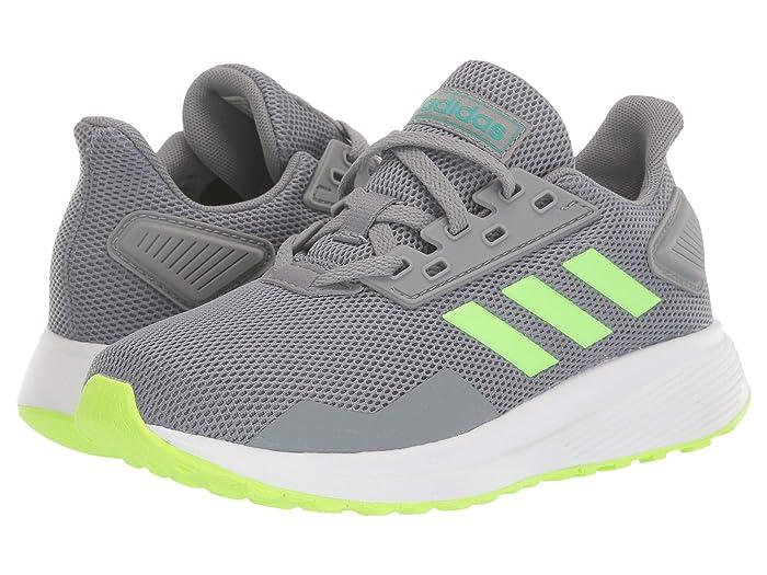 adidas Kids  Duramo 9 (Little Kid/Big Kid) (Grey/Signal Green/Glory Green) Boys Shoes
