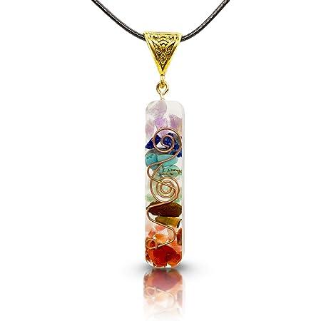 Collar 7 chakras auténticas piedras naturales Collar orgonita colgante chakras colgante 7 chakras Colgante orgonita