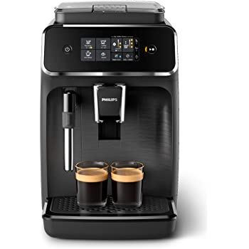Philips EP2220/10 Cafetera superautomática, Acero Inoxidable, Negro Mate