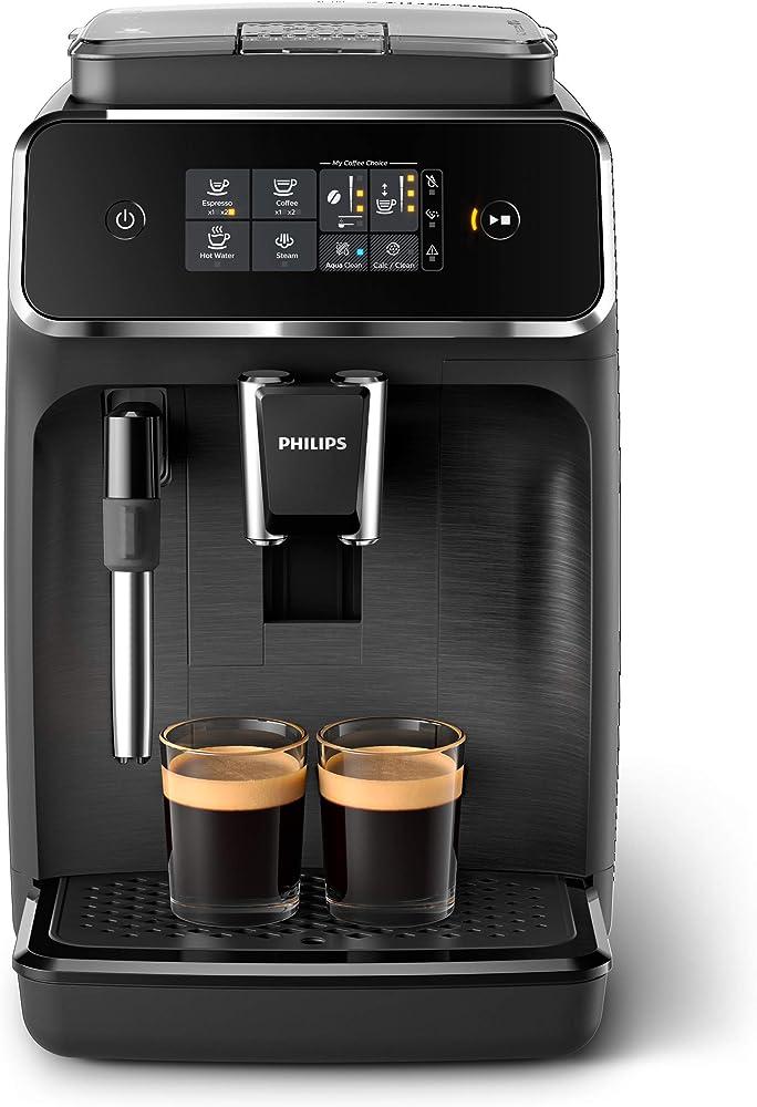 Philips macchina da caffè automatica, 2 bevande, con macine in ceramica, filtro aquaclean EP2220/10