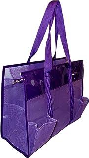 Waterproof Mesh Shopper Utility Beach Bag Zipper Organizing Tote