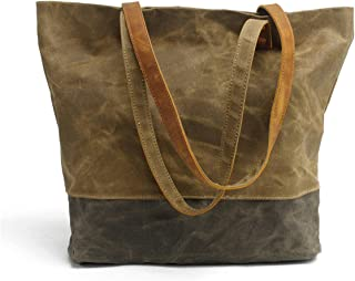 Women's Concise Style Waterproof Canvas Tote Shoulder Bag shopper bag