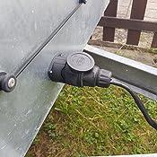 13 Poliger Stecker Inkl Parking Cover Universal Für Anhänger Stromversorgung Schraubkontakt Nach Iso 11446 12 V Mit Dichtung Steckanschluss 13 Pin Stecker Adapter Hänger Anhänger Stecker 13 Auto