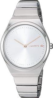 Lacoste Mia 2001054 - Reloj de cuarzo para mujer con correa de acero inoxidable, color plateado