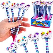 German Trendseller® - 6 x lápices con goma de unicornio?por la estuche? fiestas infantiles? idea de regalo?piñata?cumpleaños de niños? 6 unidades