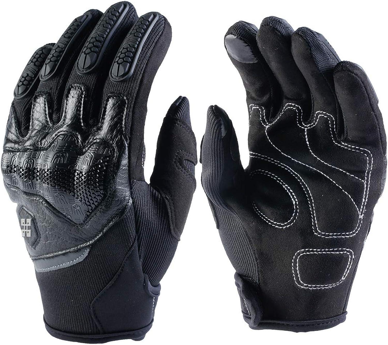 FELICIPP Touchscreen Vollfinger-Fahrradhandschuhe für das Motorradklettern Wandern Jagd Outdoor Sports Gear Handschuhe (Farbe   schwarz, Größe   XL)