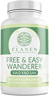 Xiao Yao San - Free and Easy Wanderer - Talc-Free Xiao Yao Wan - Chinese Herbal Formula for Womens Health, PMS Relief, and Hormone Balance for Women - 100 Capsules