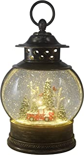 ReLive Christmas Light-Up Snow Globe Lantern - Red Truck and Trees