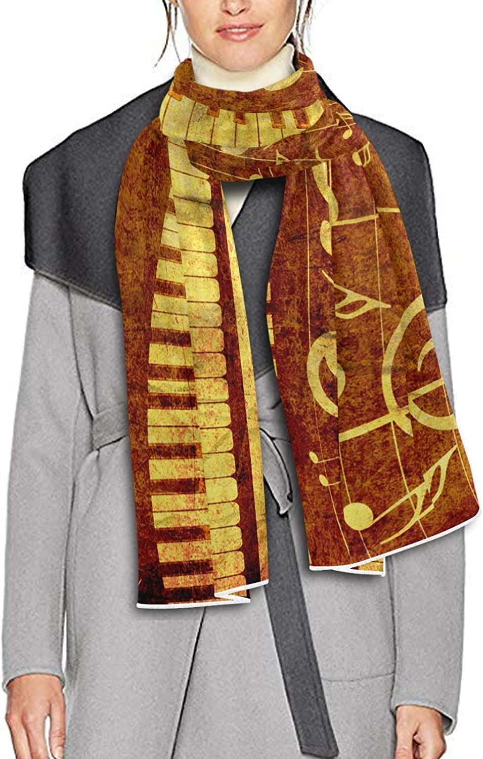 Scarf for Women and Men Piano Keys Musical Notes Blanket Shawl Scarf wraps Thick Soft Winter Large Scarves Lightweight