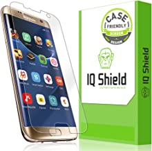 IQShield Screen Protector Compatible with Samsung Galaxy S7 Edge (Case Friendly)(Updated Design) Anti-Bubble Clear Film
