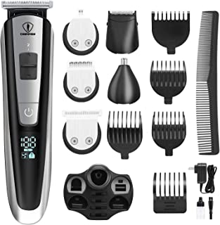 Ceenwes Men's Grooming Kit Professional Beard Trimmer Hair Clippers Hair trimmer Hair Design Trimmer Mustache trimmer Body...