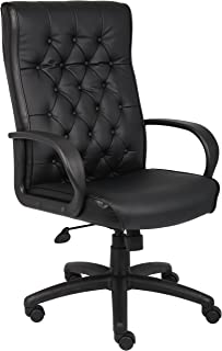 Boss Office Products Button Tufted Executive Chair in Black