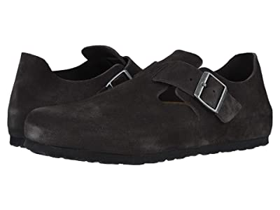 Birkenstock London (Gunmetal Suede) Slip on Shoes