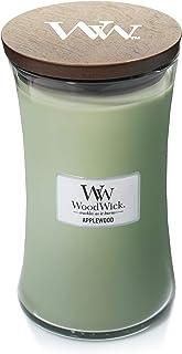 WoodWick vela aromática grande en forma de reloj de arena madera de manzano