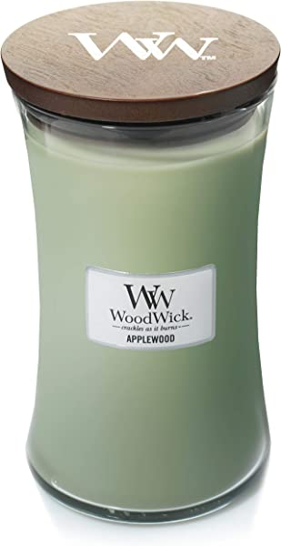 WoodWick Applewood 22oz Large Jar Candle Burns 180 Hours