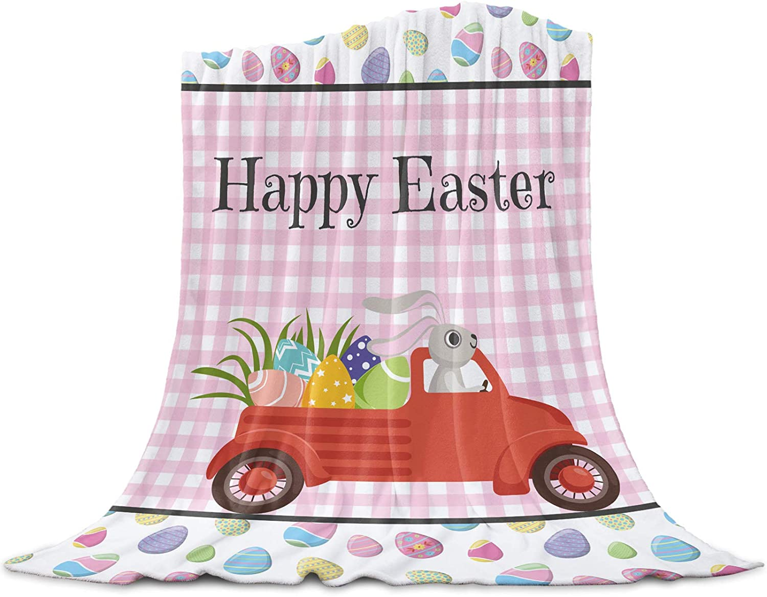 Portland Mall Comfort Warm Bed Blanket Flannel Cut Throw Easter Happy Fixed price for sale Blankets