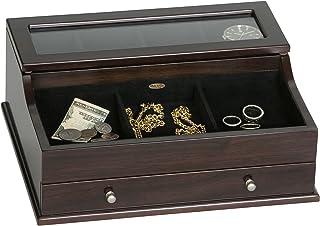 Mele & Co. Hampden Jewelry Valet, Mahogany