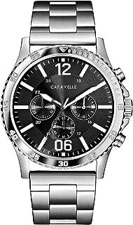 Caravelle Men's Quartz Stainless Steel Watch, Color:Silver-Toned (Model: 43A144)