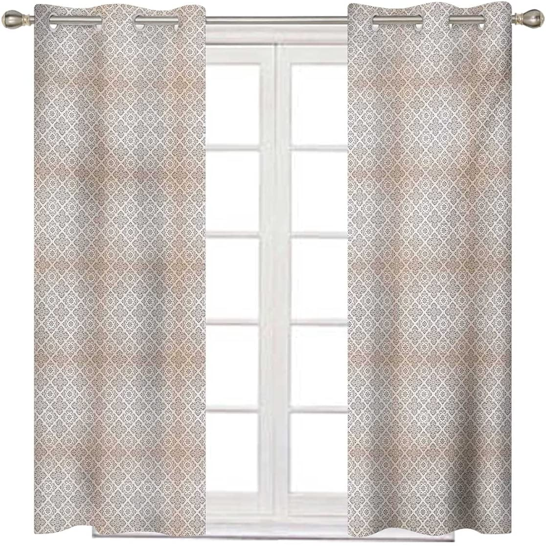 Beige Cheap sale and Brown 2021 model Privacy Curtain Inches B Long 72