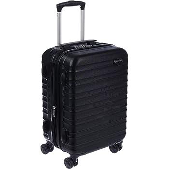 AmazonBasics Hardside Spinner, Carry-On, Expandable Suitcase Luggage with Wheels, 21 Inch, Black