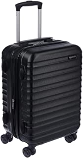 AmazonBasics Hardside Spinner, Carry-On, Expandable Suitcase Luggage with Wheels, 21 Inch, Black