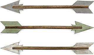 AuldHome Farmhouse Wall Art Arrows (Set of 3); Decorative Wall Ornament Set of Wooden Arrows