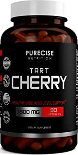 Sponsored Ad - Purecise Nutrition Tart Cherry Extract Capsules with Bilberry and Celery Seed Extract - Supports Uric Acid ...
