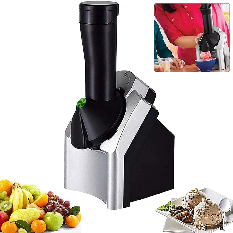 Ice Cream Maker Machine,Portable Household Use Soft Serve Ice Cream Machine,Make Delicious Ice Cream Sorbets and Fruit Dessert, US Plug BPA Free Dishwasher