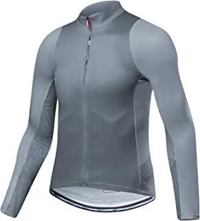 Santic Cycling Jersey Men's Long Sleeve Tops Mountain Bike Shirts Bicycle Jacket with Pockets