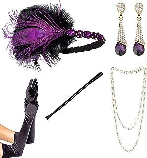 Gatsby Charleston Flapper 20s Costume Flapper Perle /& titolare per sigarette Regno Unito