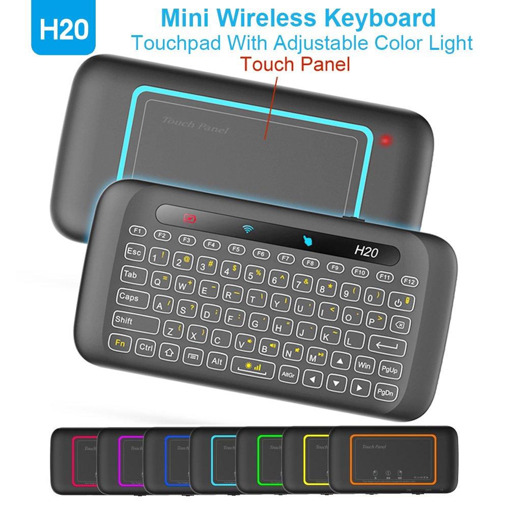 MX3B Mouse Remoto de Aire con retroiluminación 2.4 GHz Mini Teclado inalámbrico y Control Remoto por Infrarrojos, el Mejor Aprendizaje para Android TV Box Smart TV HTPC IPTV PC Pad PS3B: Amazon.es:
