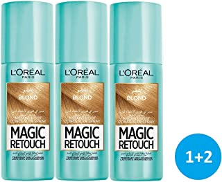 L'Oréal Paris Magic Retouch Instant Root Concealer Spray – Golden Brown - 3 pieces