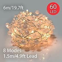 Kabel Innentrafo tranp L/änge 180 cm 482588 Innen Kaemingk Girlande mit wei/ßen Perlen und 30 warmwei/ßen LED