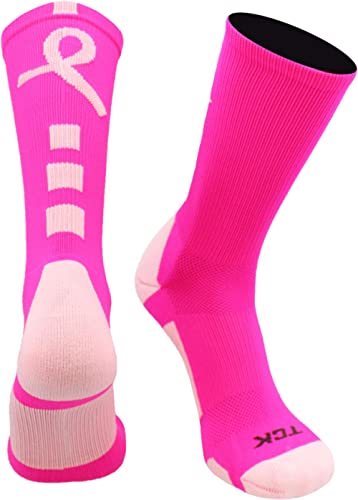 TCK Baseline Breast Cancer Awareness Athletic Crew Socks (Kids and Adult Sizes)
