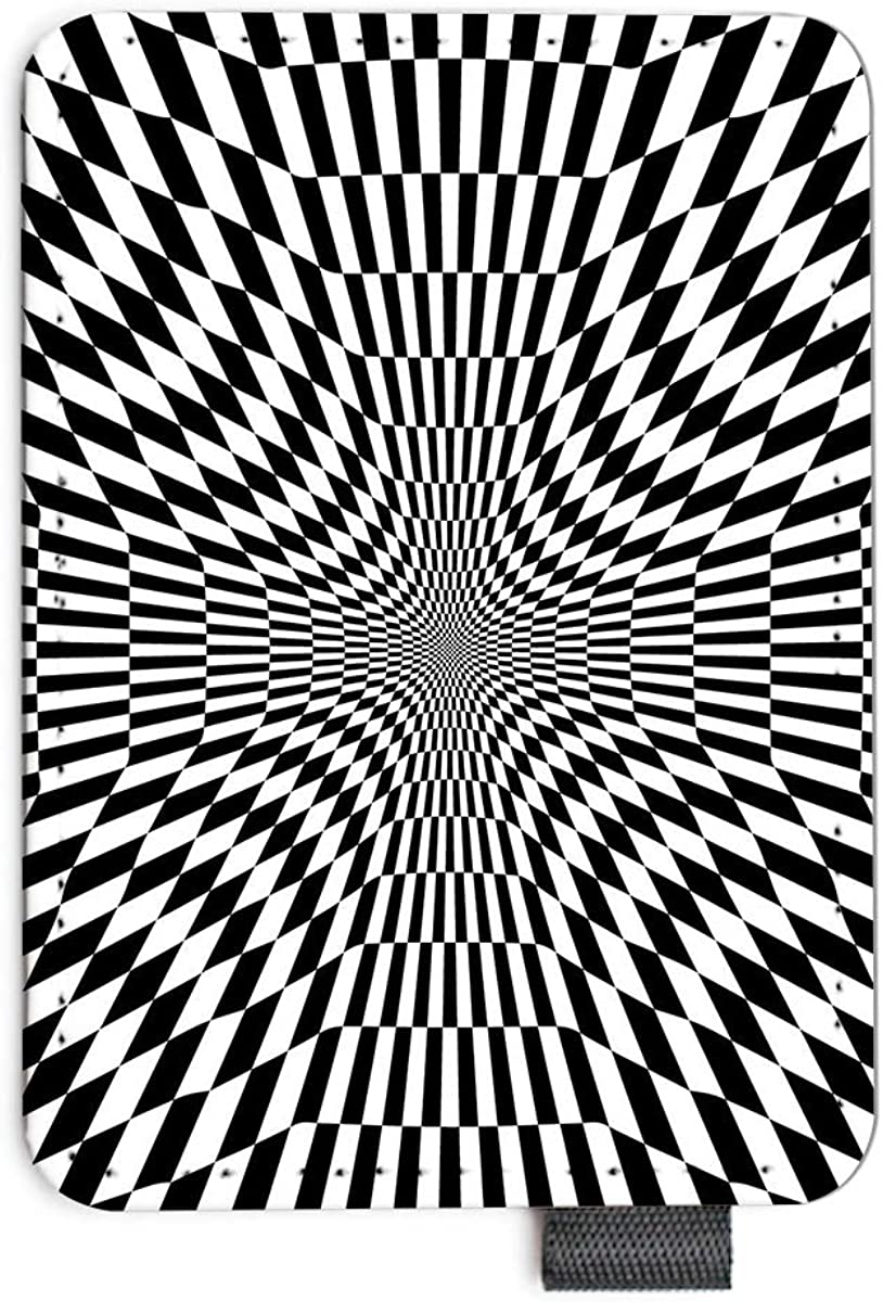 Optical Illusion Cross Zebra Pattern like Magic Eye Minimal Card Holder/Money Clip Wallets