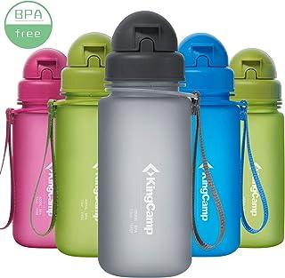 KingCamp Botella de Agua Deportiva Bicicleta para Niños Plástico Impermeable y Reutilizable 14oz/400ml sin BPA