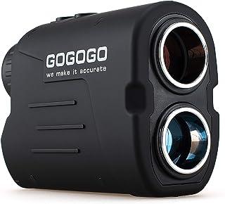 Gogogo Sport Vpro Laser Golf/Hunting Rangefinder, 6X Magnification Clear View 650/900 Yards Laser Range Finder, Accurate, Slope Function, Pin-Seeker & Flag-Lock & Vibration, Easy-to-Use Range Finder