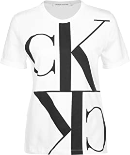 Calvin Klein Women's MIRRORED MONOGRAM STRAIGHT TEE S/S T-Shirt