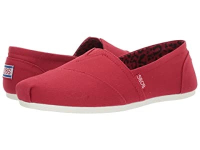 BOBS from SKECHERS Bobs Plush Peace and Love (Dark Red) Women
