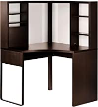 IKEA Micke Corner Workstation, Black-Brown