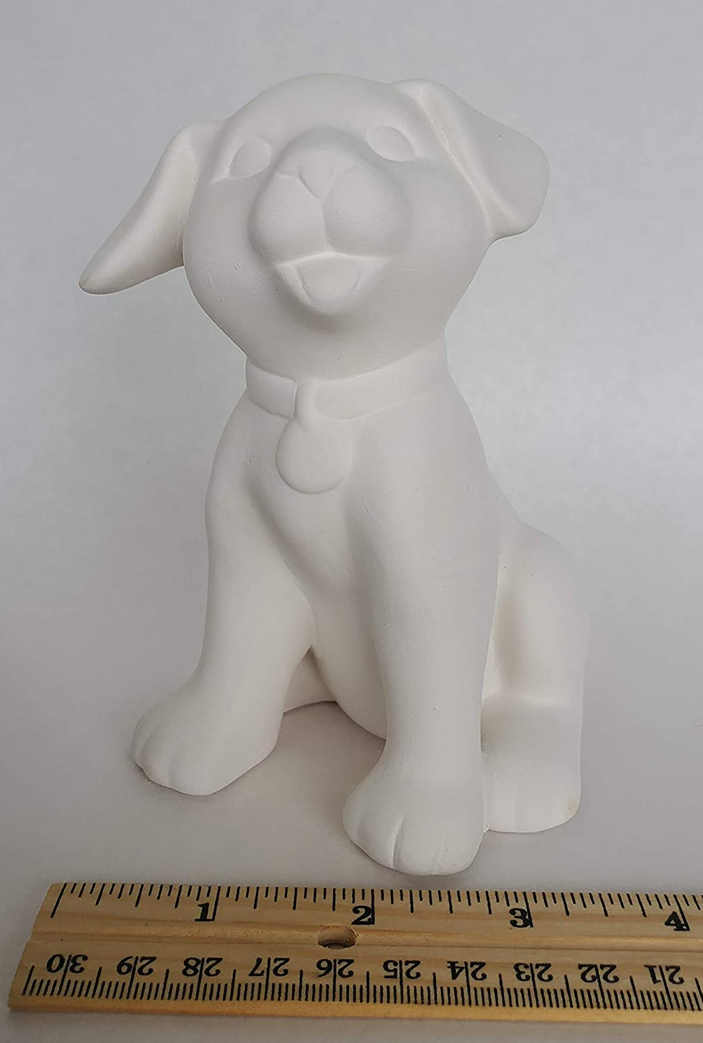 Bisque - Sitting Puppy 3in x Glaze for 5in San Antonio Mall Unpainted Ranking TOP16 Ready