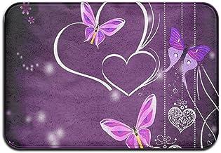 Purple Butterfly Net Door Mat Rug Indoor/Outdoor/Front Door/Bathroom Mats /Bedroom Doormat