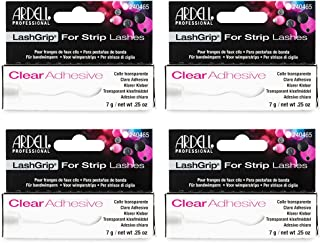 Ardell Lashgrip Strip False Lash Adhesive, Clear, 0.25 Oz x 4 pack